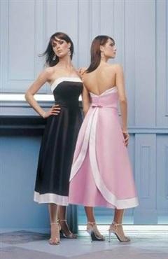 A-line Satin Strapless Sleeveless Bridesmaid Dress - Bridesmaid Dresses - OuterInner.com
