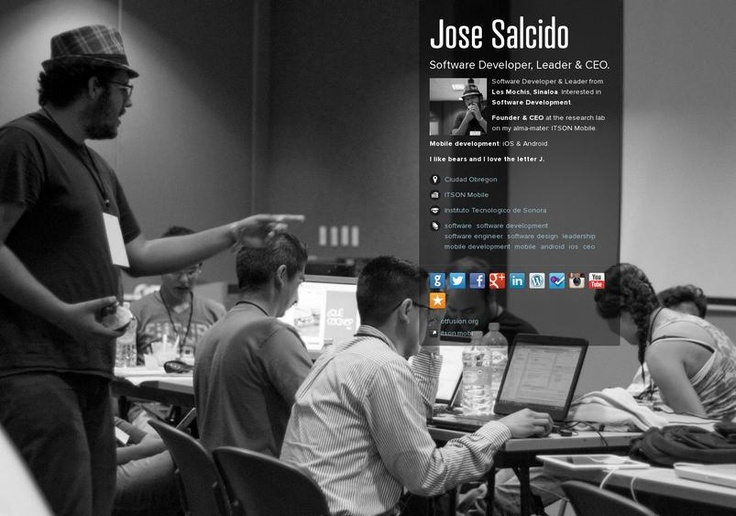 Jose Salcido's page on about.me – http://about.me/jose152 - updated