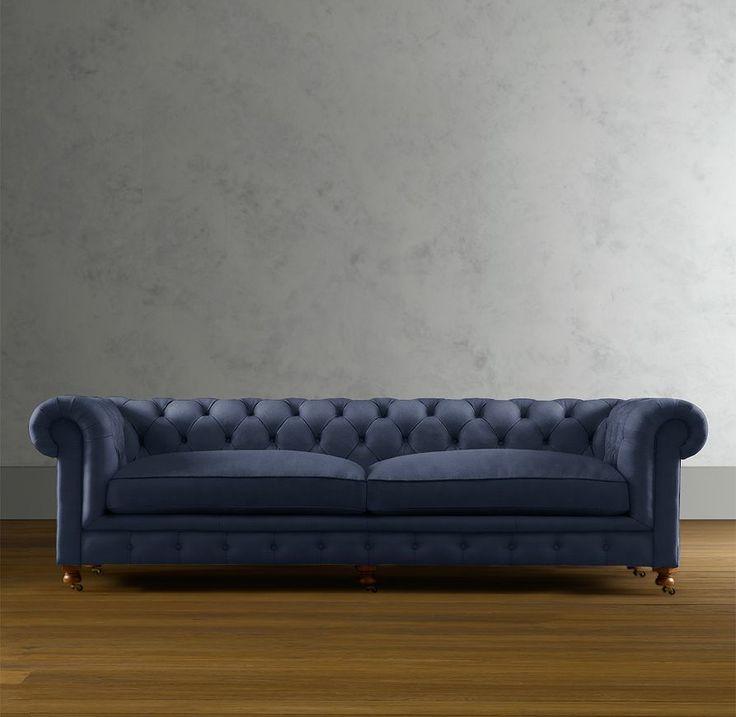 Indigo Velvet Sofa Furniture Obsessed Pinterest