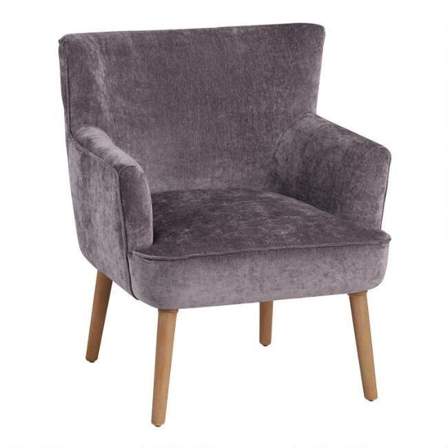 Dark Plum Wingback Cayla Chair World, World Market Armchair