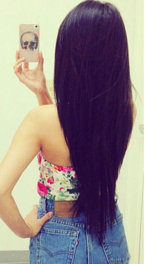 long straight black hair hair jealousies pinterest