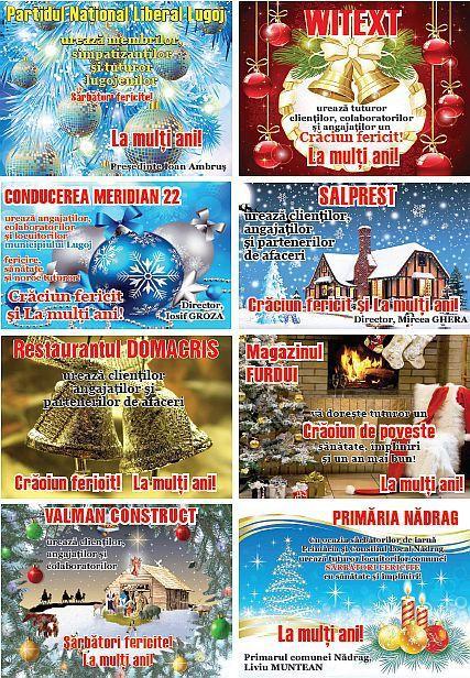 Urări de Crăciun şi Anul Nou ale firmelor şi instituţiilor din zona Lugoj – Făget | Actualitatea Online