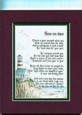 Amazon A Gift For Son In Law Poem 90 Unique 30th 40th 50th Birthday Present Prints Posters