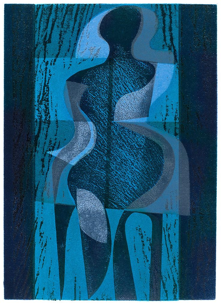 'Night Dancer' woodcut and stencil print by Peter Green OBE http://www.stjudesprints.co.uk/collections/peter-green