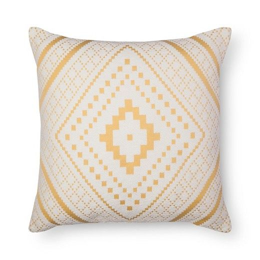 Yellow Woven Diamond Oversized Throw Pillow - Threshold™ : Target