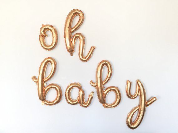 Oh Baby Balloons Gold Baby Shower Decor Gold Oh Baby Sign Etsy Gold Baby Shower Decorations Gold Baby Showers Letter Balloons