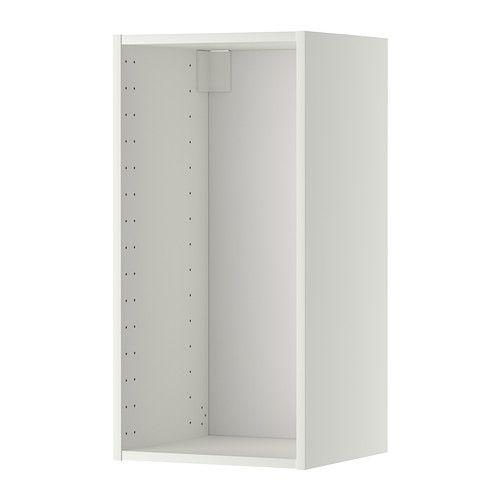 METOD Veggskapstamme - hvit, 40x37x80 cm - IKEA 1 stk, med hvit dør