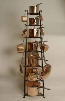 Matched Set Of Victorian Copper Cook Wear With Wrought Iron Stand Consists 11 Sauce Pans Lids And Other Piec Bakeware In 2018