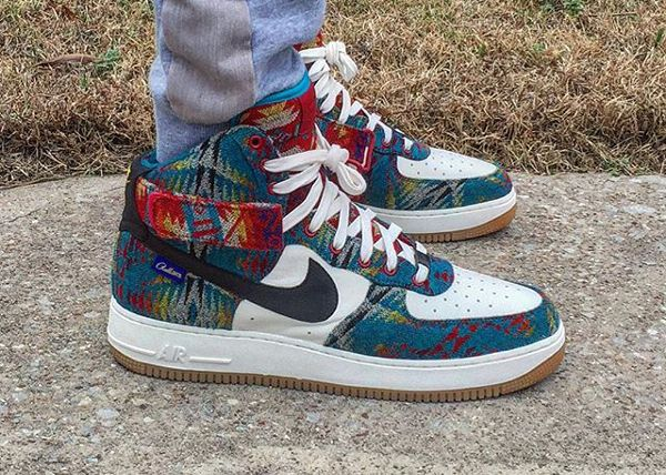 Nike Air Force 1 High ID Pendleton Warm and Dry -  drj2341 ... 3729ef991