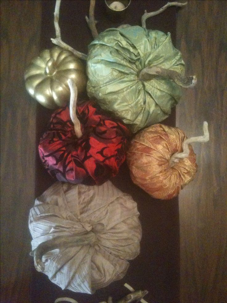 My new DIY: fabric pumpkins