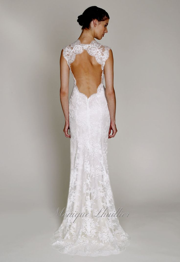 Bliss 2013 monique lhuillier bliss 1330 bliss by for Chantilly lace wedding dress