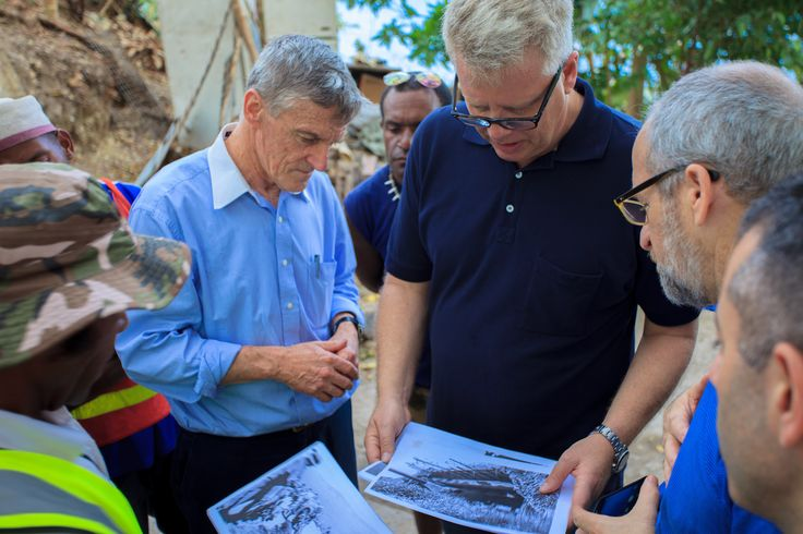 Paga Hill Development Company's CEO Gudmundur 'Gummi' Fridriksson, Architect Paul Gallagher & COO George Hallit on site at Paga Hill's World War II Relics.