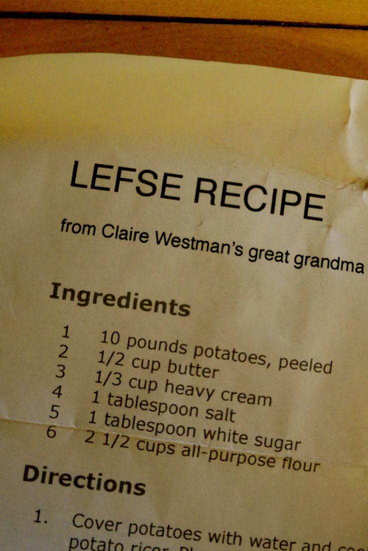 Griggs Dakota: Recipe: Grandma Esther's Lefse Recipe