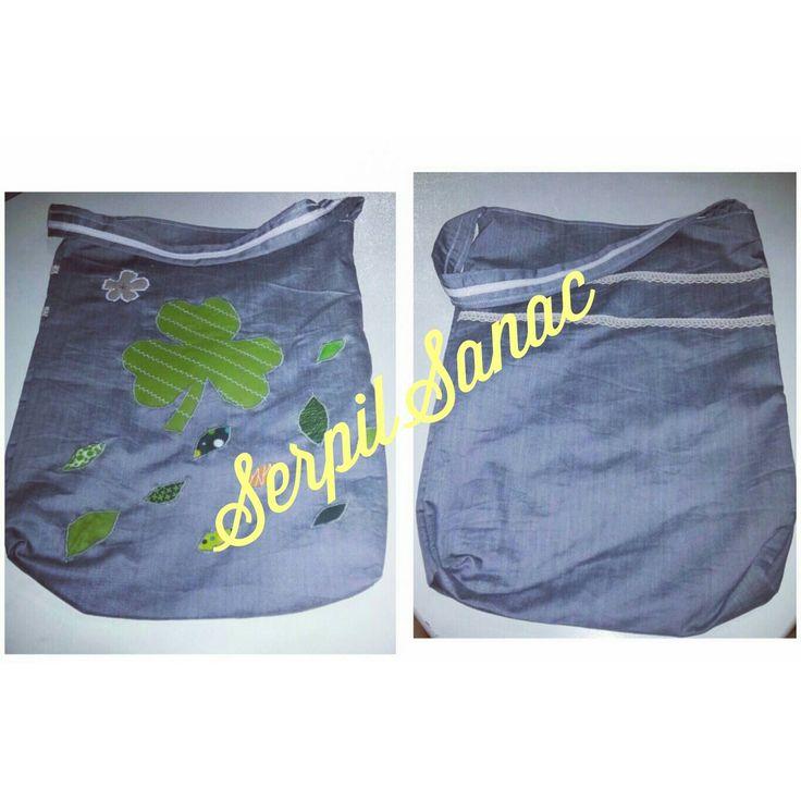 #canta #çanta #yonca #yaprak #clover #gri #yeşil #green #bag #fourleafclover #fourleaf #grey #çiçek #cicek #flower