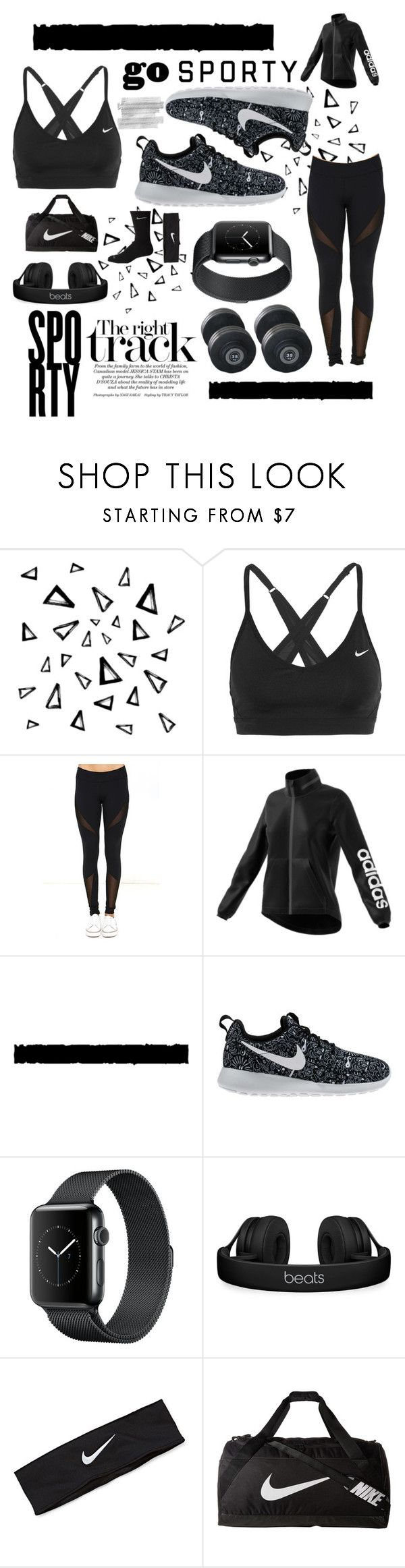 """""""Black is Back 🏋🏽"""" by odeussing ❤ liked on Polyvore featuring Nika, NIKE, Dance & Marvel, adidas, Tim Holtz and Beats by Dr. Dre"""