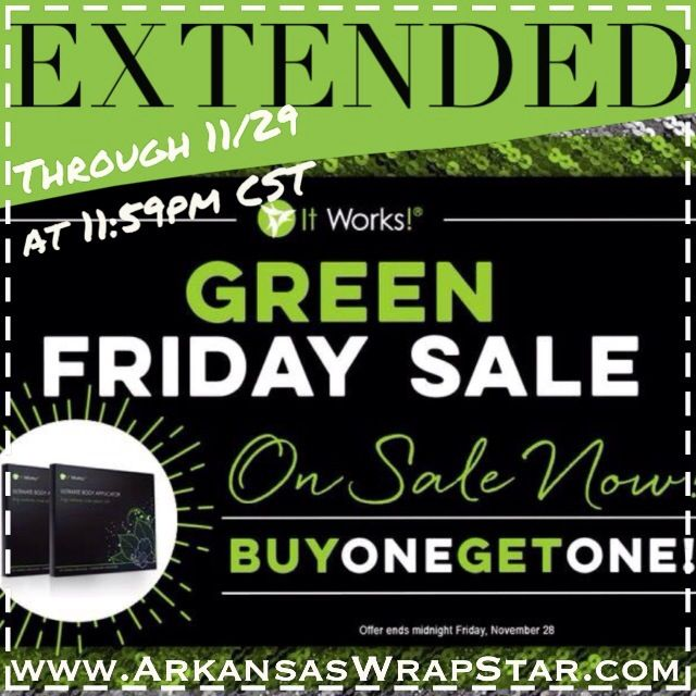#itworksglobal extended the #blackfriday #bogo special on our body wraps! Check them out at www.ArkansasWrapStar.com #madewithstudio