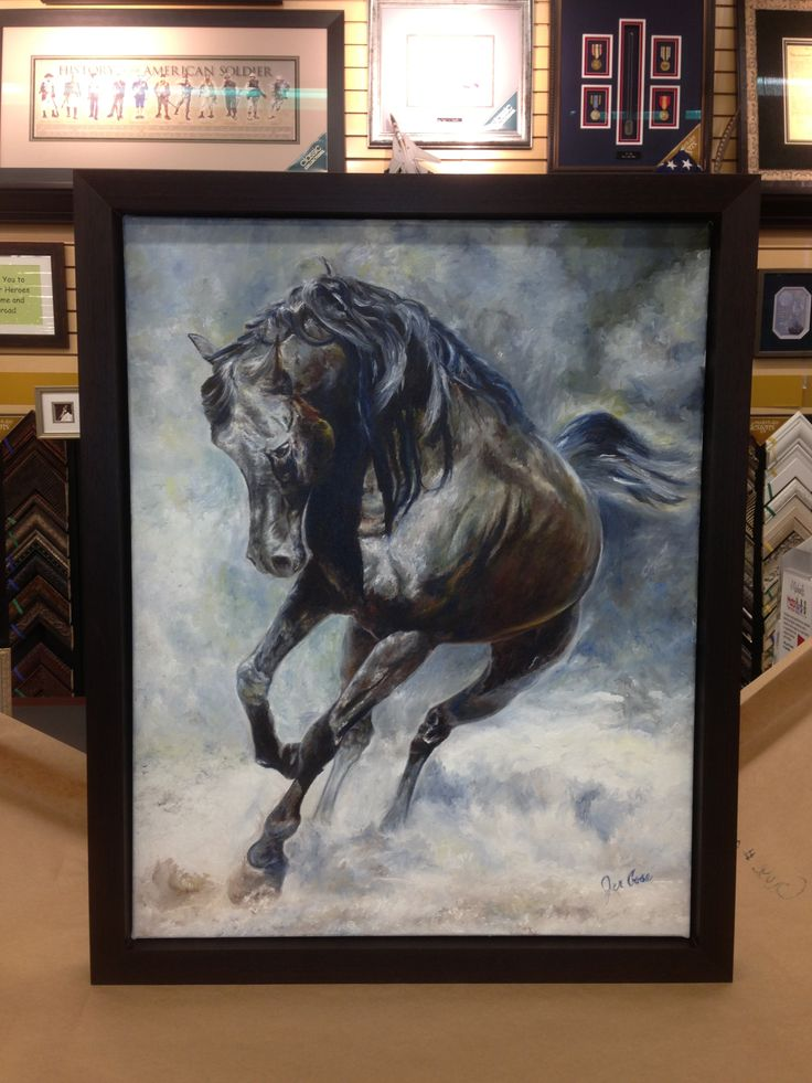 """""""Dream Horse"""" framed! Oil on canvas. Painted by Jen """"Vann"""" Gose 2012"""