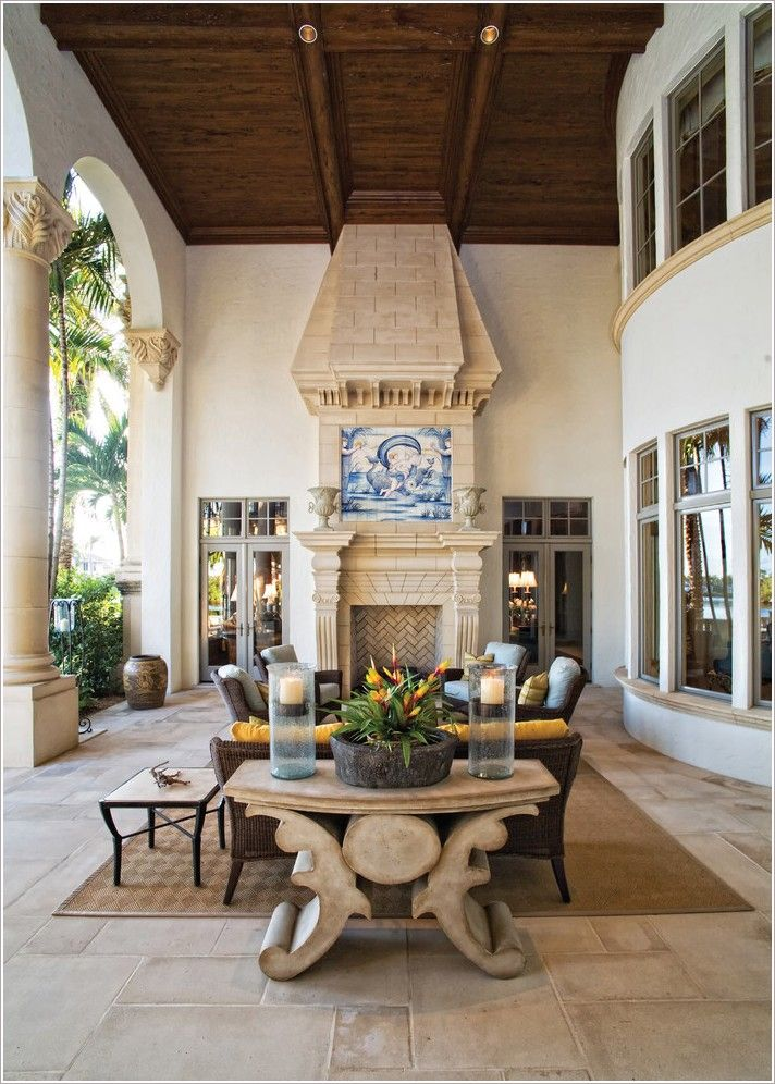 Stunning outdoor Mediterranean living space   Gorgeous Home Decor ᘡղbᘠ