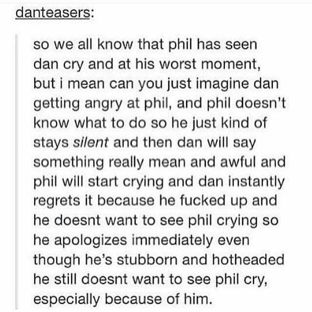 Dan loves Phil and Phil loves Dan. I don't ship them, because I can just tell that it's a best friend love