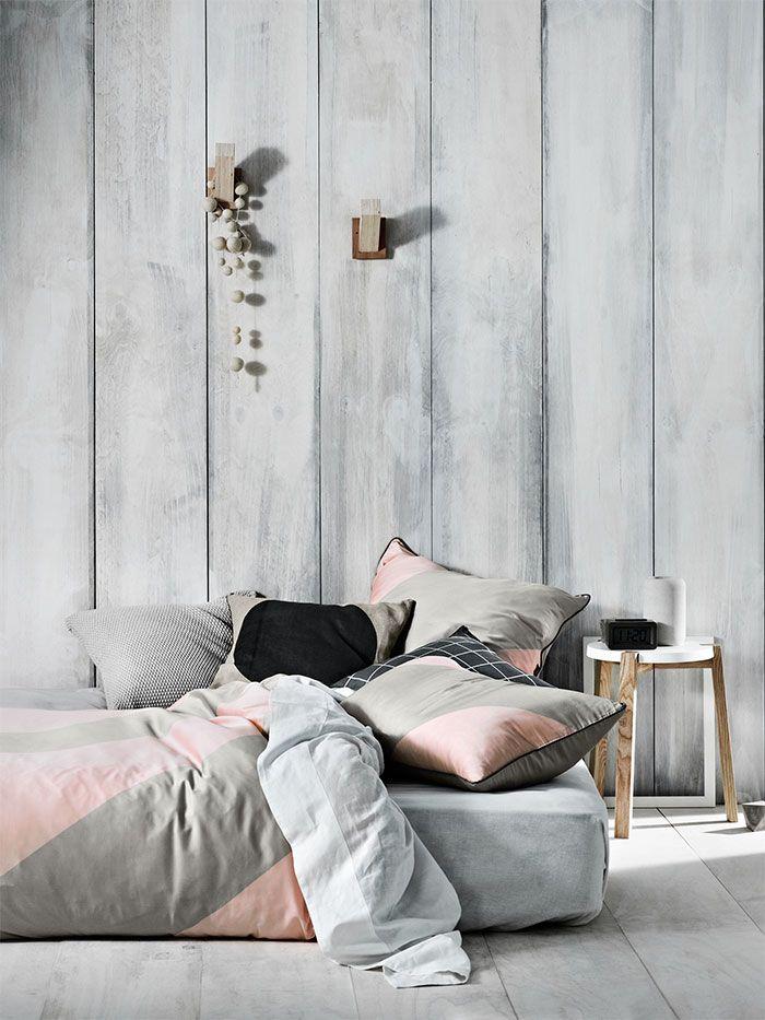 wundersch ne bettw sche in grau rosa home wohnidee schlafzimmer pinterest bettwaesche. Black Bedroom Furniture Sets. Home Design Ideas