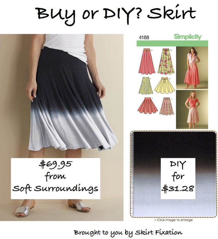 Skirt Fixation shows you how to make this Soft Surroundings knockoff skirt on the cheap!