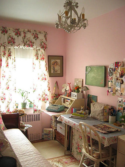 Beautiful Sewing Space. Love Love the curtains.