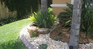 Image result for landscaping around trees with rocks