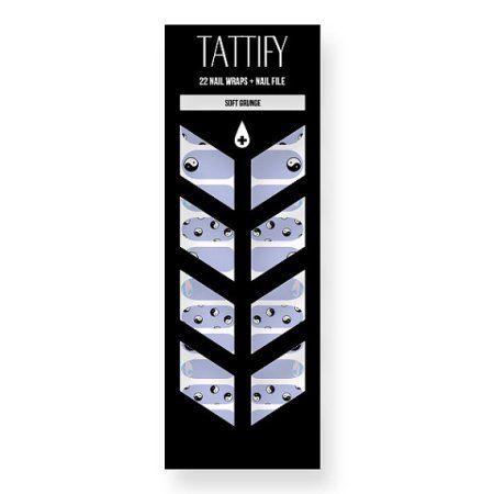Tattify Yin Yang Nail Wraps - Soft Grunge (Set of 22)
