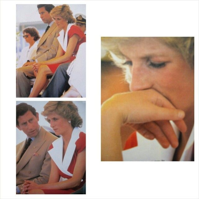 """""""On January 29th 1988 Prince Charles and Princess Diana continued their royal tour of Australia, visiting the port of Goolwa. On their start of their journey at Victor Harbour, Charles and Diana rode aboard 'The Duke Of Edingburgh' vintage steam train."""