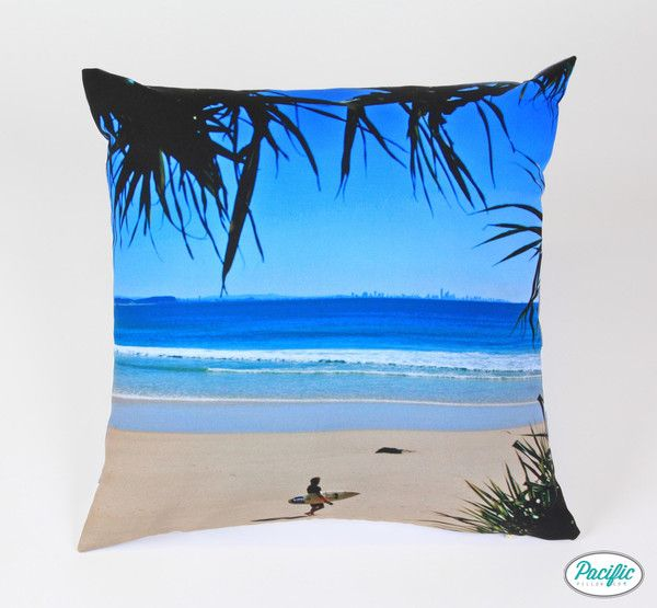 This cushion features a Surfer at Greenmount Beach Coolangatta printed on high quality non fade material.