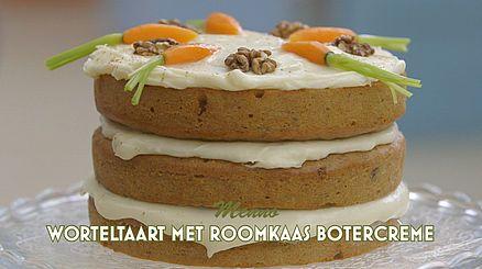 Worteltaart met roomkaas botercreme - Menno
