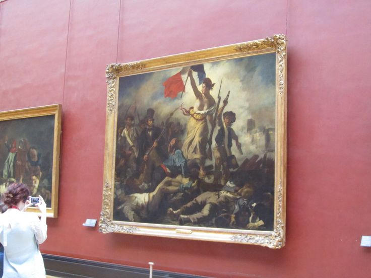 """Liberty Leading the People"" inside Musée du Louvre"