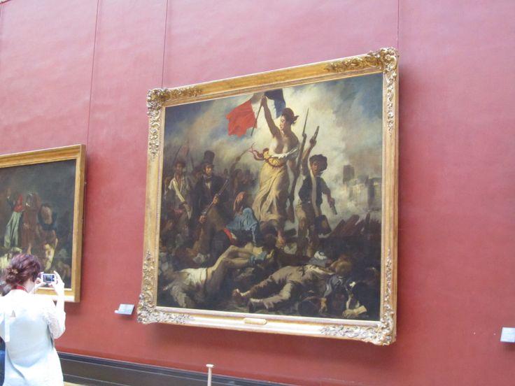 """Liberty Leading the People"" inside Musée du Louvre"