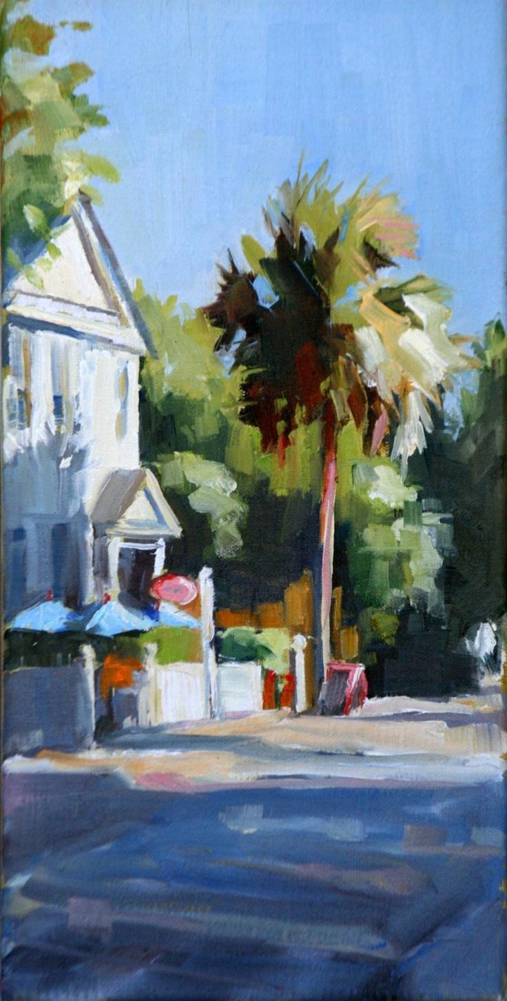 Fine watercolor art for sale - Daily Paintworks Charleston Side Street Original Fine Art For Sale Carol Carmichael