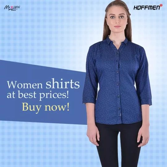 Girls, grab chic #shirts at best prices only from #Hoffmen today. Buy here: http://bit.ly/2eK56NG
