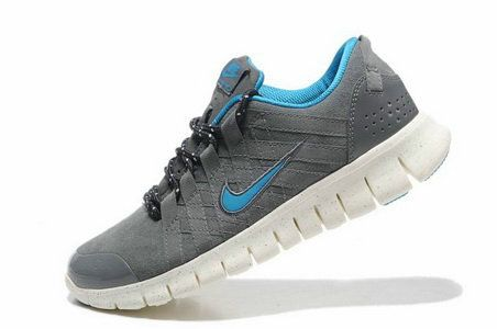 Mens Nike Free Powerlines Suede Grey Blue White