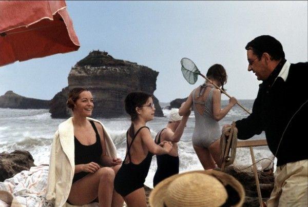 Scènes du Film le Vieux Fusil avec Romy Schneider à Biarritz  1975