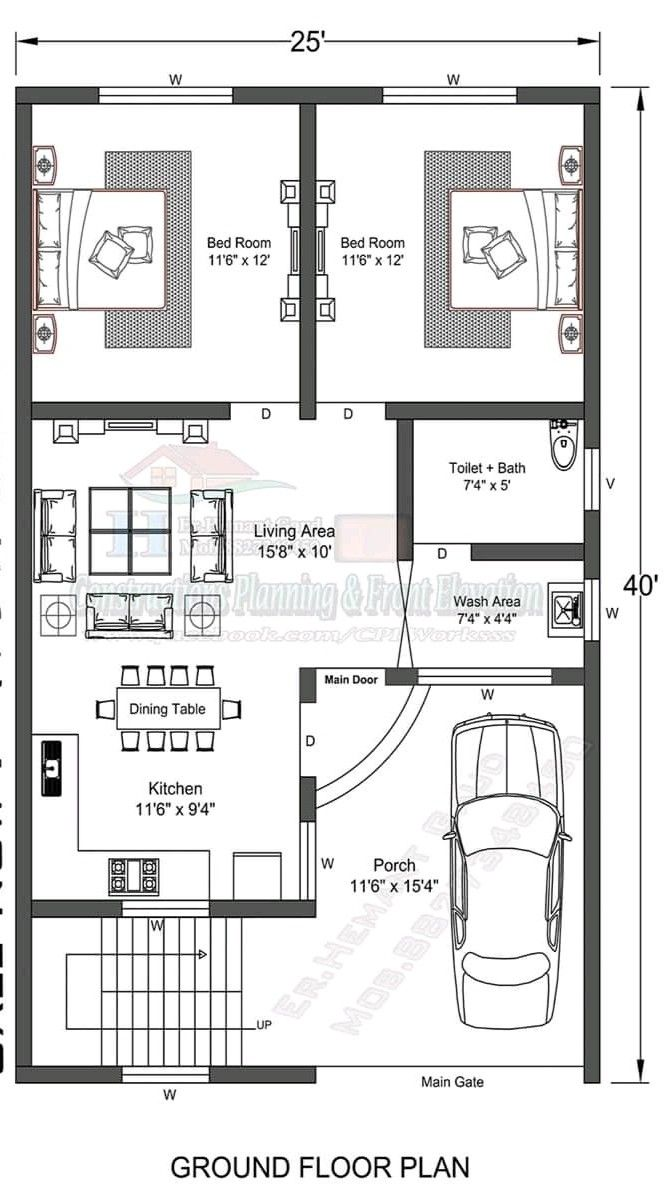 Pin By Umar Qureshi On House Plans 20x30 House Plans Budget House Plans Town House Plans