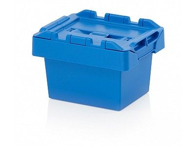 5 Litre Stack - Nest Attached Lid Container - Lidded Plastic Storage Box