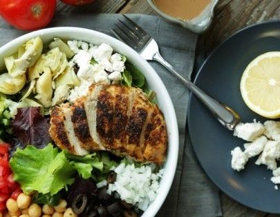 Greek salad, Roasted chicken and Recipes dinner on Pinterest