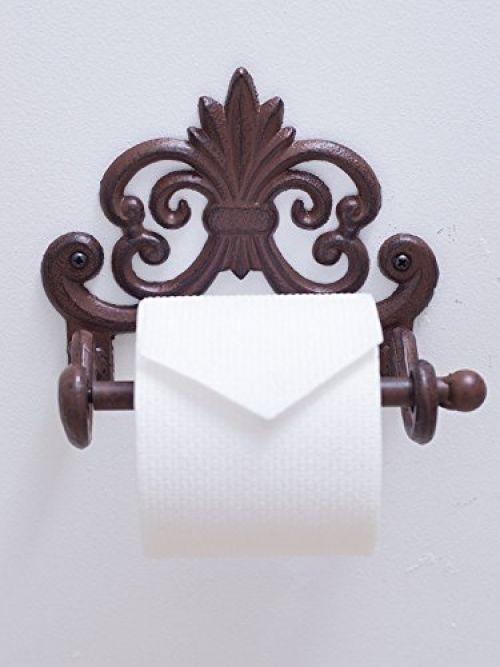 [Mother's Day Gift] Fleur De Lis Cast Iron Toilet Paper Roll Holder | Cast Iron | Home & Garden, Home Improvement, Plumbing & Fixtures | eBay!