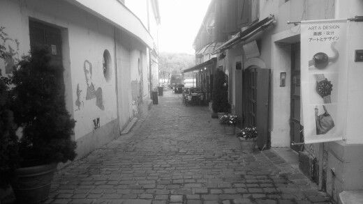 #street #ruined #graffiti #blackandwhite #town #shop #riverside