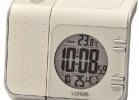 Lorus wekker actie met tijd projector LCD wekker van Lorus, met oplopend Beep alarm en snooze knop. Hij geeft niet alleen de tijd aan maar ook de temperatuur. Hij geeft licht, en doormiddel van een draaibare lens projecteert hij de tijd op het plafond. De afmetingen zijn:10,5 x 12 x 6cm