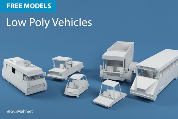 Free Cinema 4D Models | Low Poly Vehicles