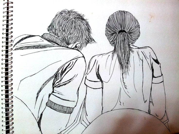 Ballpoint sketch of me and my husband which I did in a middle of a class 6 years ago :)