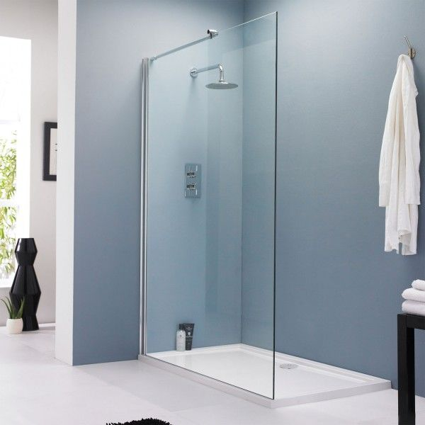 Vetro Wet Room 1200mm Glass Shower Screen Manufactured from 8mm toughened safety glass £139
