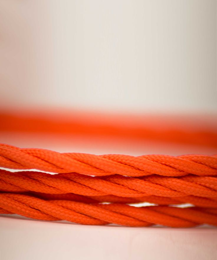 Vintage Fabric Electric Cable - Orange Twisted - William&Watson