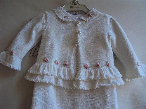 Saída de Maternidade Menina : Tricô com babadinhos, bordad… | Flickr