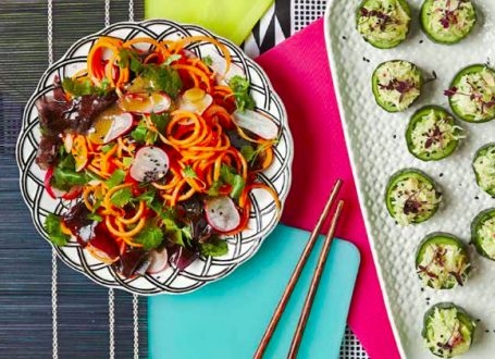 Carrot, Radish and Seaweed Salad with Miso Dressing