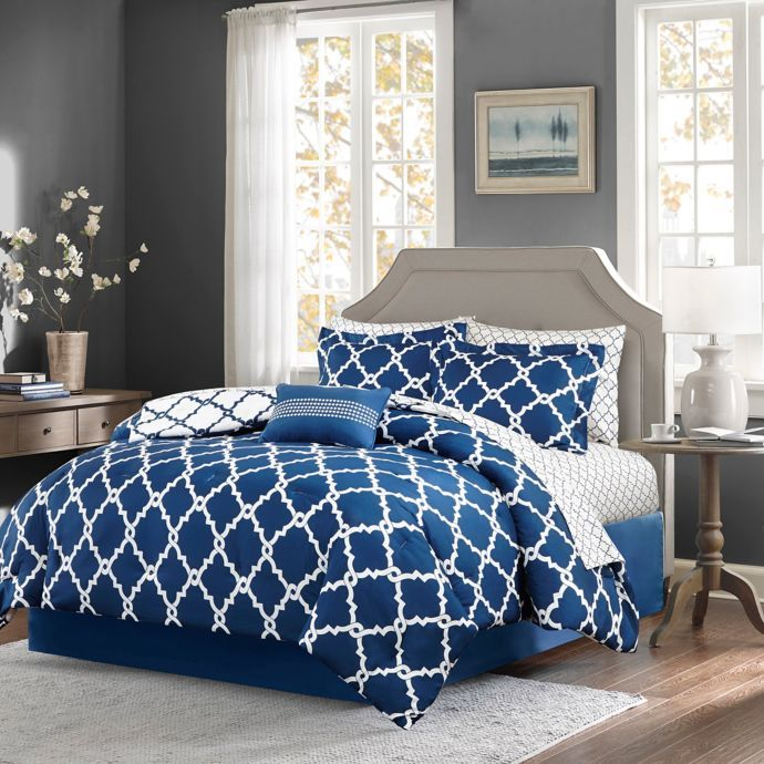 Madison Park Essentials Merritt 9 Piece Reversible Comforter Set